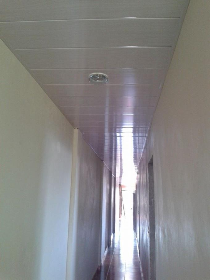 Fire Resistant PVC Ceiling Panels Bathroom Double Groove ...