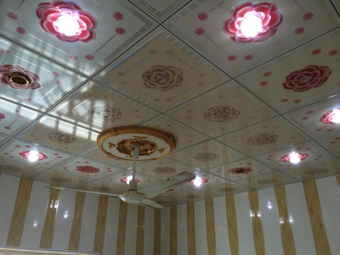 Decorative Suspended Ceiling Tiles , Interior Ceiling Panels 7mm Thickness