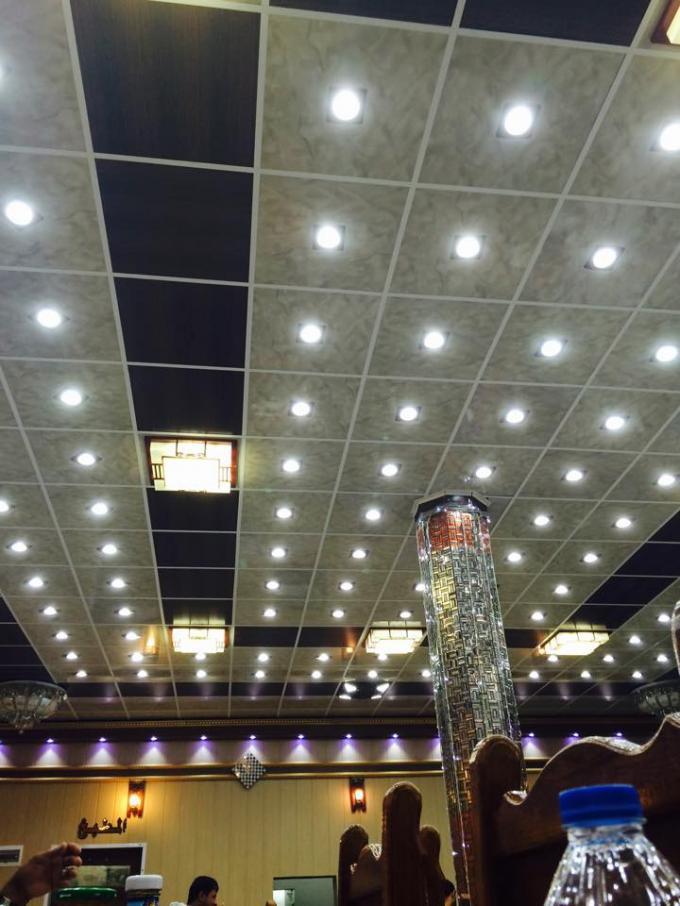 Wood Grain Ceiling Panels Fireproof Pvc False Ceiling
