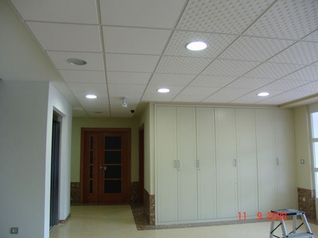 Smooth White Glossy PVC Ceiling Panels 2X4 Feet Sound - Absorbing