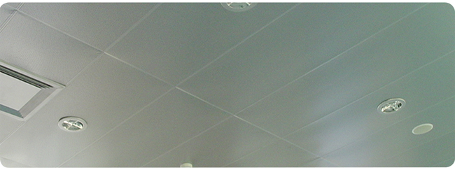 Utility Rooms Plafond PVC Ceiling Panels Washable With A Groove