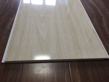 China Wood Grain Bathroom PVC Ceiling Panels Seamless Connection 3.5kg / m2 30cm x 9mm factory