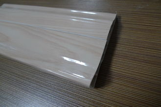 China 9 CM High PVC Skirting Board Covers Plastic Glossy Symmetrical Design factory