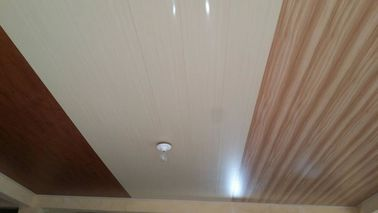 China 20cm x 6mm Flat PVC Ceiling Panels No Aspiration Wooden Design supplier