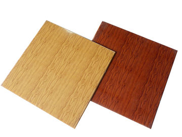 China Wood Grain Ceiling Panels Fireproof PVC False Ceiling Tiles Laminated factory