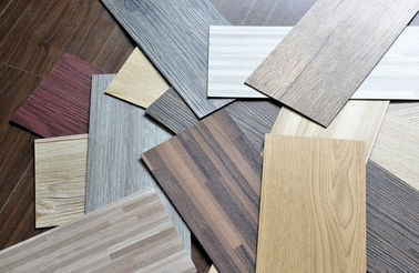 "China Waterproof Wood Grain PVC Floor Tiles No - Wax 9""X48"" Installed With Glue factory"