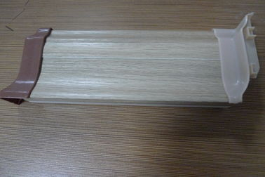 China High Impact Resistant PVC Laminate Flooring Skirting Board 500G / M Anti - Insect supplier