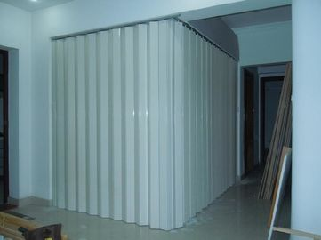 China Washable PVC Folding Door Interior , Foldable Toilet Door Moisture Protection supplier