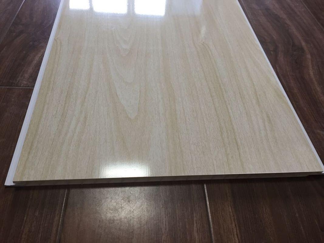 Wood Grain Bathroom PVC Ceiling Panels Seamless Connection 3.5kg / M2 30cm  X 9mm