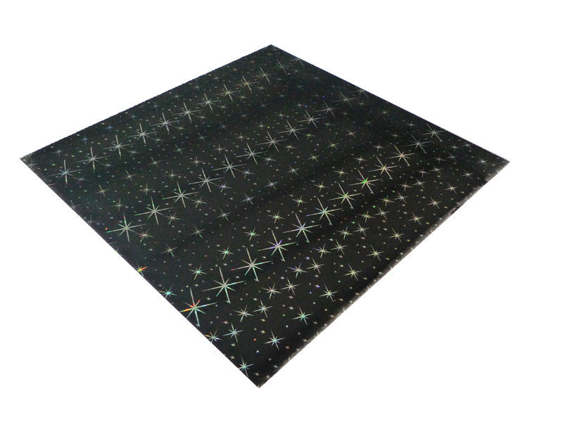 ISO Black Shiny Rectangle PVC Ceiling Panels For Bathrooms 2.2Kg - 2.8Kg Per Sqm supplier