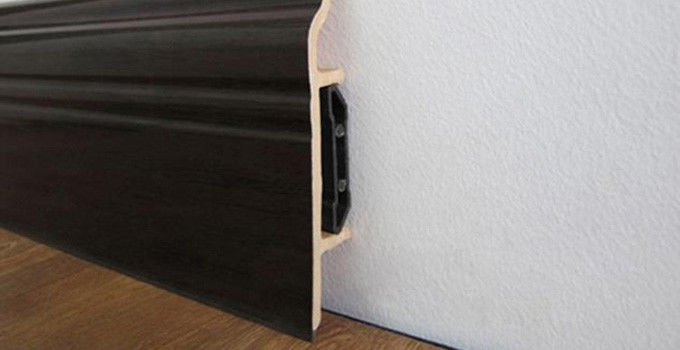 Interior Waterproof Skirting Board Pvc Laminate Floor Skirting Trim