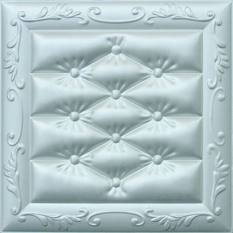 Carved Leather Decorative 3D Wall Panels Fire Resistant Embossed supplier