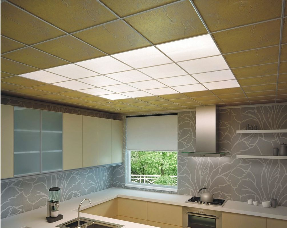 300 215 450 Mm Aluminium Ceiling Panel Moisture Protectiong