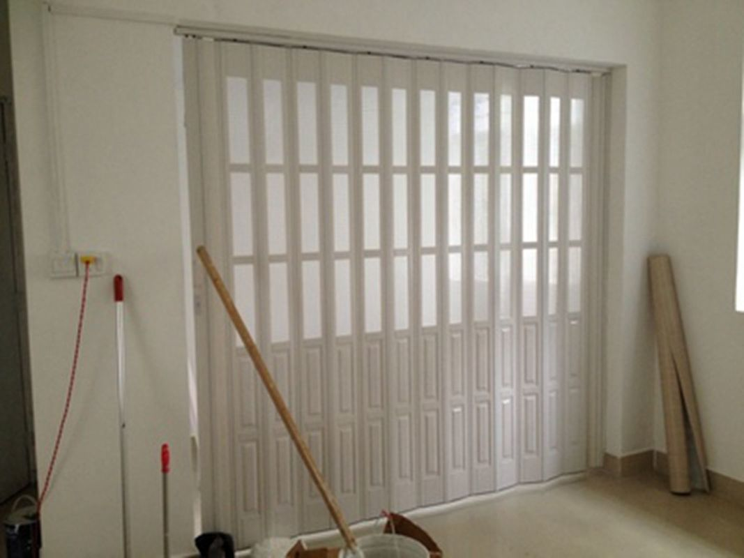 Custom accordion folding doors interior with hard joint for Custom made internal bifold doors