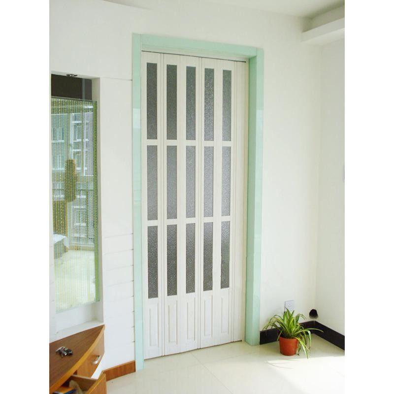 interior decorative pvc accordion folding door walnut color