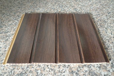 China Wood Grain Strip Laminated PVC Wall Panel 3D Effect Self - Fire Extinguishing distributor