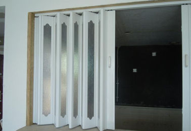 China Interior PVC Folding Door  Plastic Accordion Sliding Door 0.1-0.3 m / s & PVC Folding Door on sales - Quality PVC Folding Door supplier